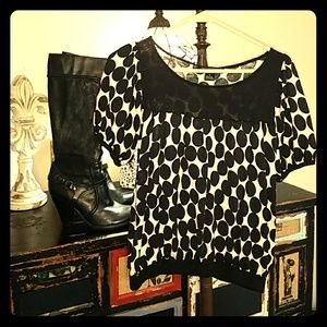 Womens size small thin polka dot sweater